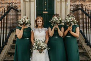 london street, hannah and johnny, street photography, bridesmaids