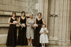 beech hill, beech hill country house hotel, bride and groom, autumn bride, bridal party, bridesmaids