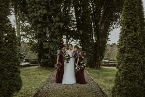 corick house, bride and groom, bridesmaids, getting ready