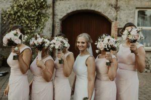 galgorm resort, bridal party, getting ready, bride and groom, bridesmaids