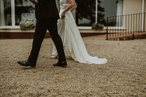 harveys point, bride and groom, outdoor ceremony