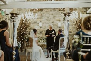 ballymagarvey village wedding venue, happy tears, bride and groom
