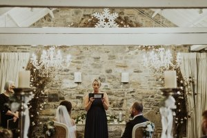 ballymagarvey village wedding venue, happy tears, bride and groom, bridal party, boho