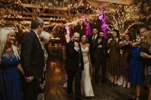 ballymagarvey village wedding venue, happy tears, bride and groom, bridal party, boho,belfast wedding photographers